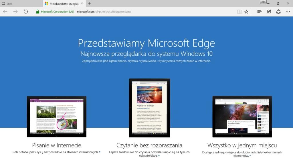 Microsoft Edge dla Windows 10