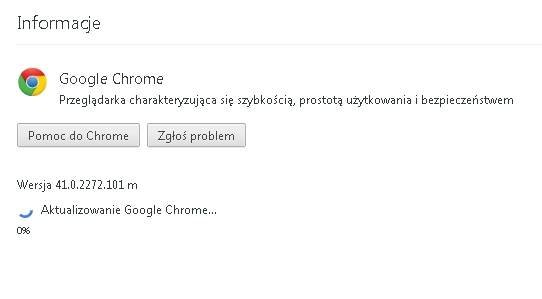 aktualizacja google chrome