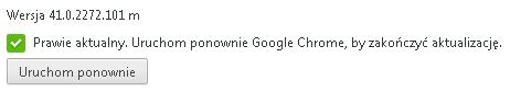 google chrome prawie aktualny