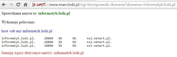 LODMAN sprawdzanie dostępności domeny