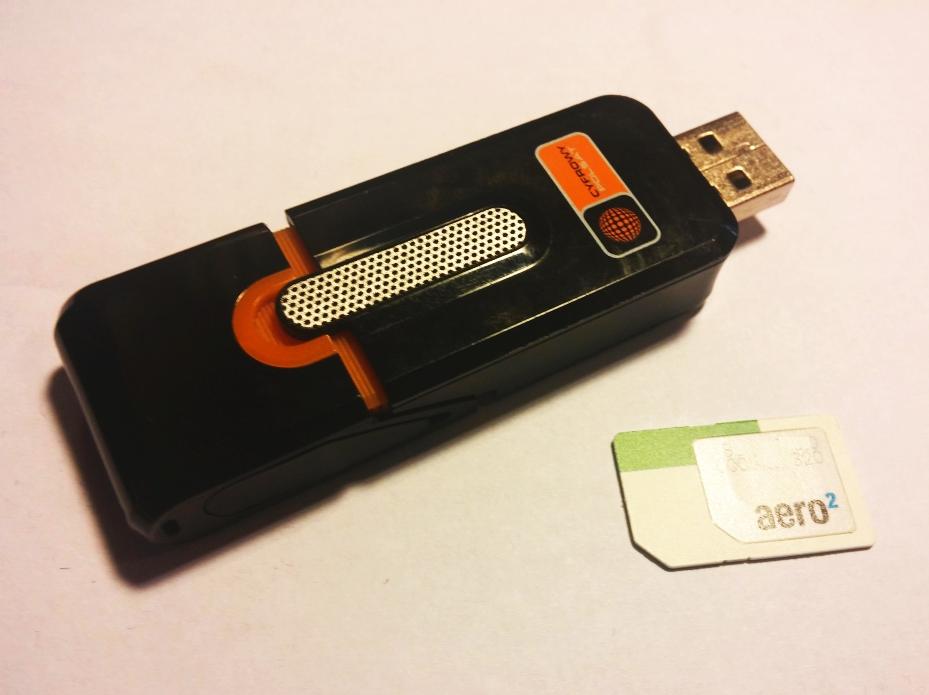 cyfrowy polsat aero2 modem i karta SIM