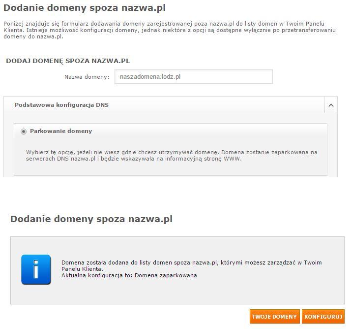 dodanie domeny spoza nazwa.pl