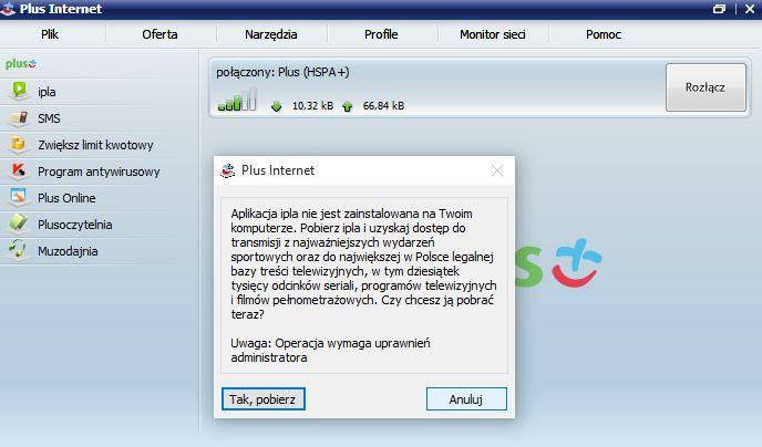 modem MF669 instalacja aero2 połączenie ipla