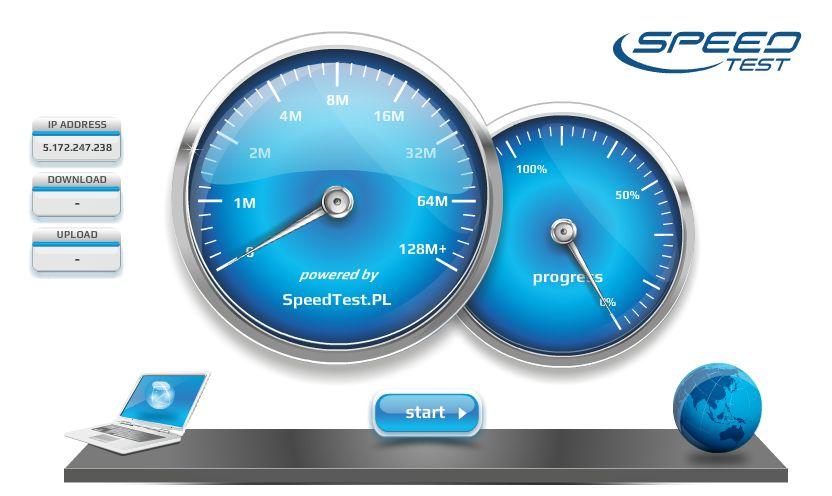 test prędkości internetu