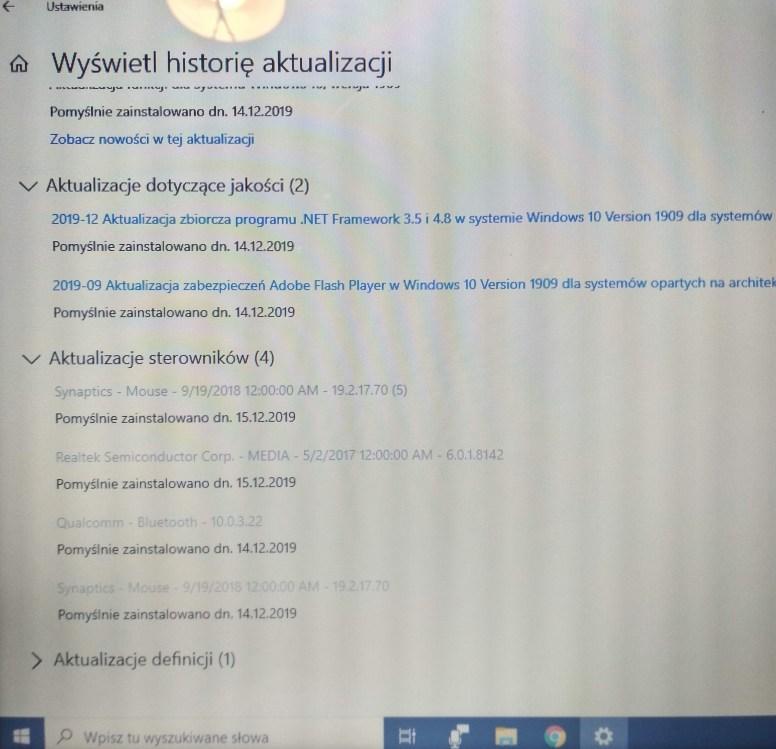 Aktualizacja sterownika Dell