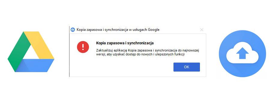 problem z odinstalowaniem dysku google